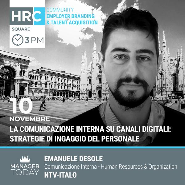 HRC SQUARE - LA COMUNICAZIONE INTERNA SU CANALI DIGITALI: STRATEGIE DI INGAGGIO  ...
