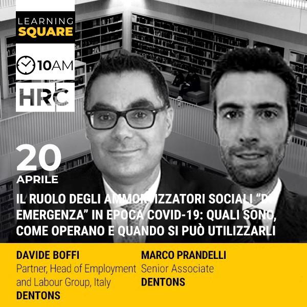 """LEARNING SQUARE - IL RUOLO DEGLI AMMORTIZZATORI SOCIALI """"DI EMERGENZA""""  ..."""