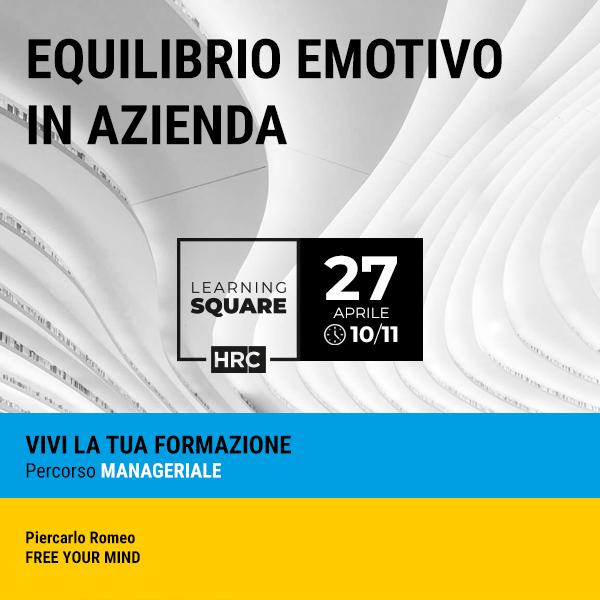 LEARNING SQUARE - EQUILIBRIO EMOTIVO IN AZIENDA